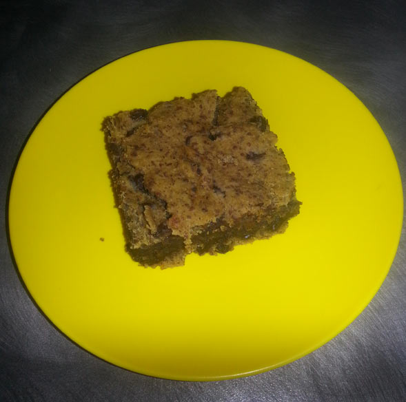 My first attempt at Katie's Healthy Chocolate Chip Blondies.